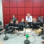 In the studio at Radio York
